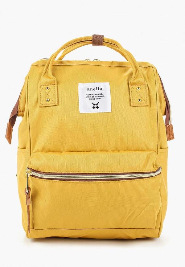 женский рюкзак anello, желтый
