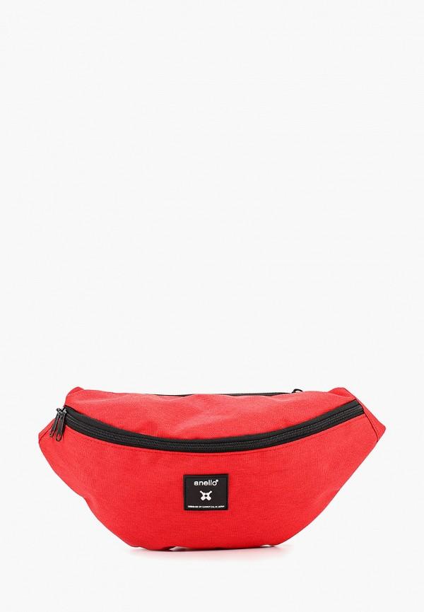 женская сумка anello, красная