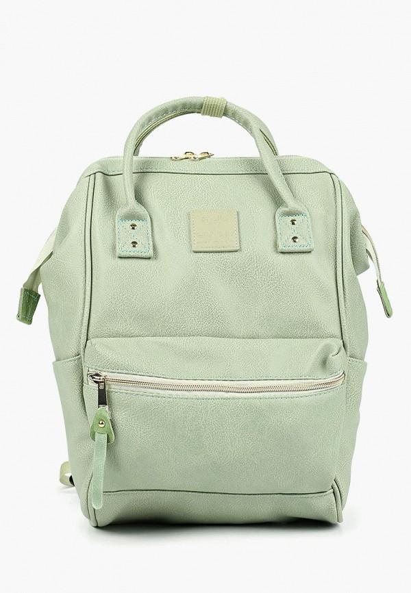 женский рюкзак anello, зеленый