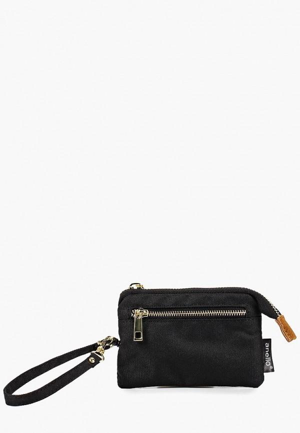 женский кошелёк anello, черный