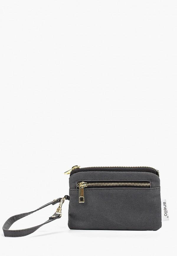 женский кошелёк anello, серый