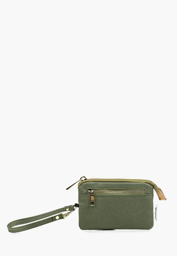 женский кошелёк anello, зеленый