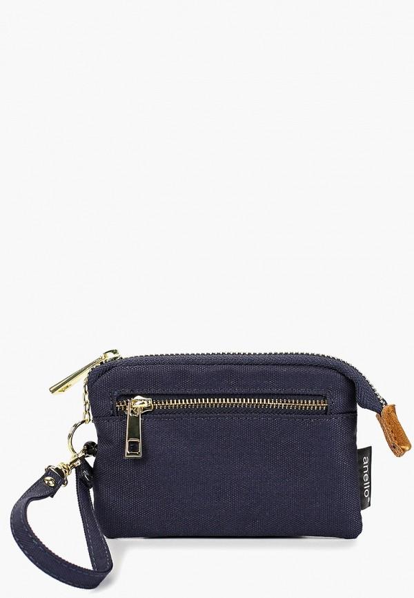 женский кошелёк anello, синий
