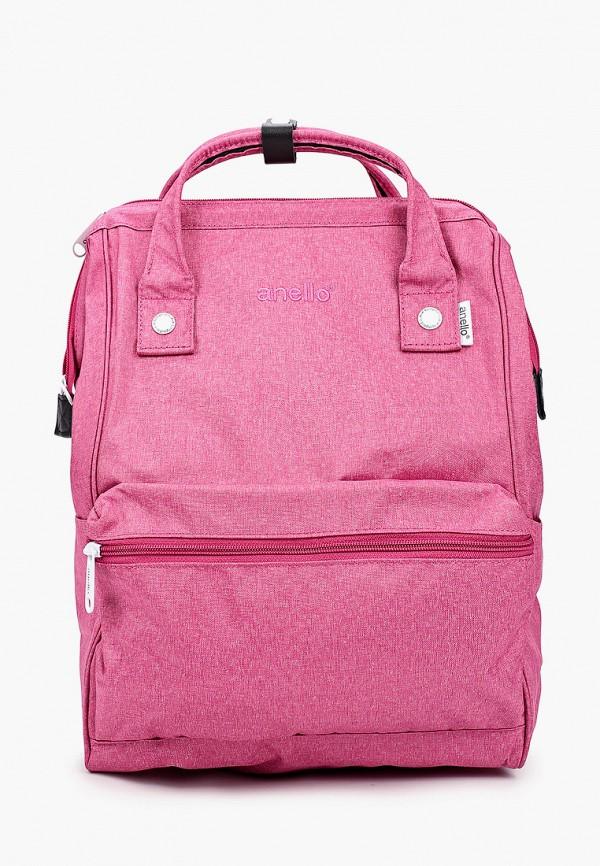 женский рюкзак anello, розовый
