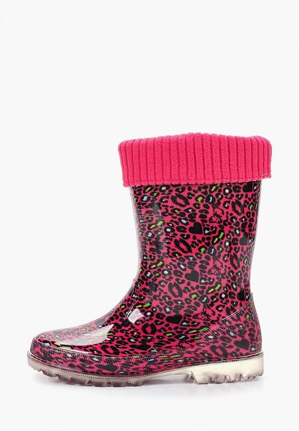 резиновые сапоги antilopa для девочки, розовые