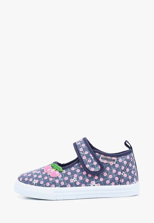 туфли antilopa для девочки, синие