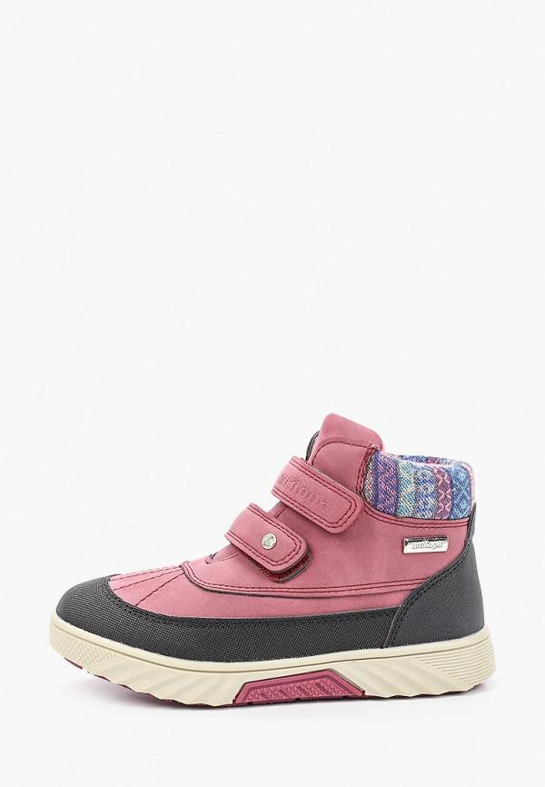 ботинки antilopa для девочки, розовые