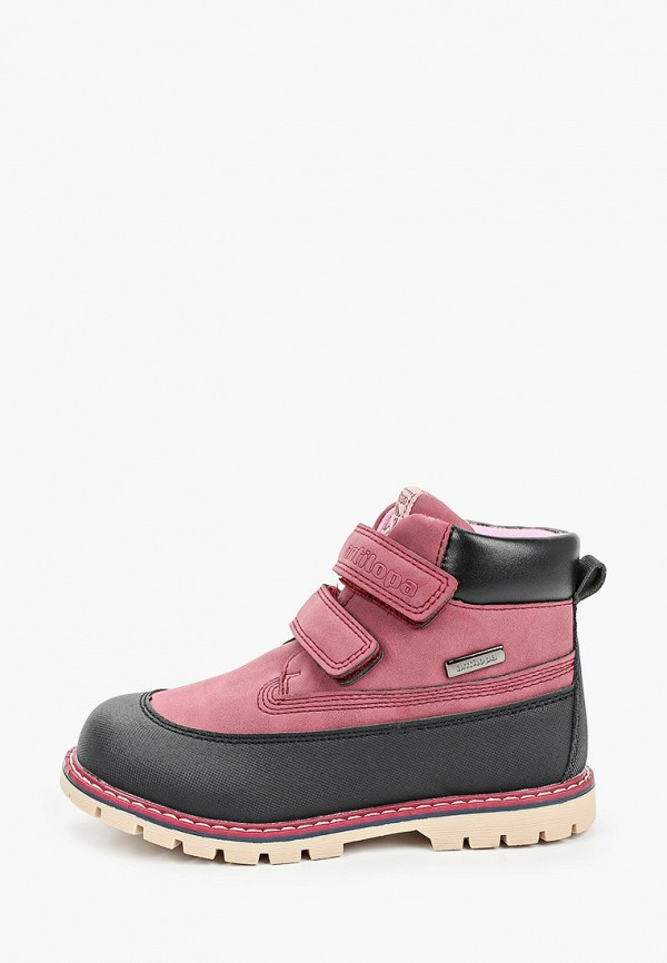 ботинки antilopa для девочки, бордовые
