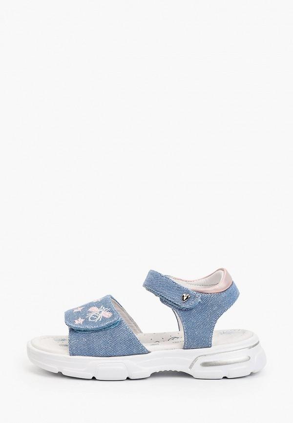 сандалии antilopa для девочки, голубые