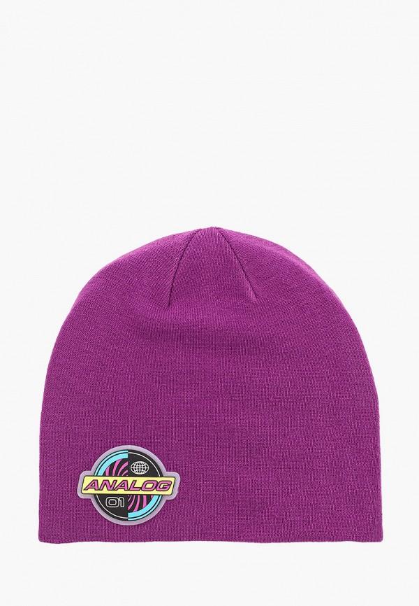 мужская шапка analog, фиолетовая
