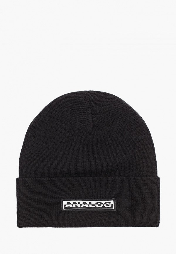 мужская шапка analog, черная