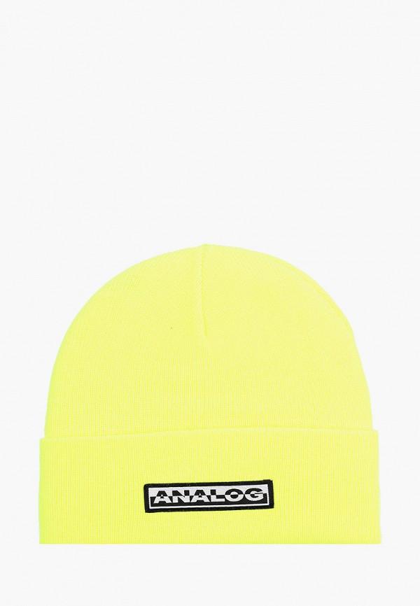 мужская шапка analog, желтая