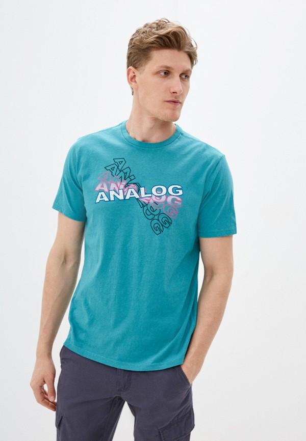 мужская спортивные футболка analog, зеленая