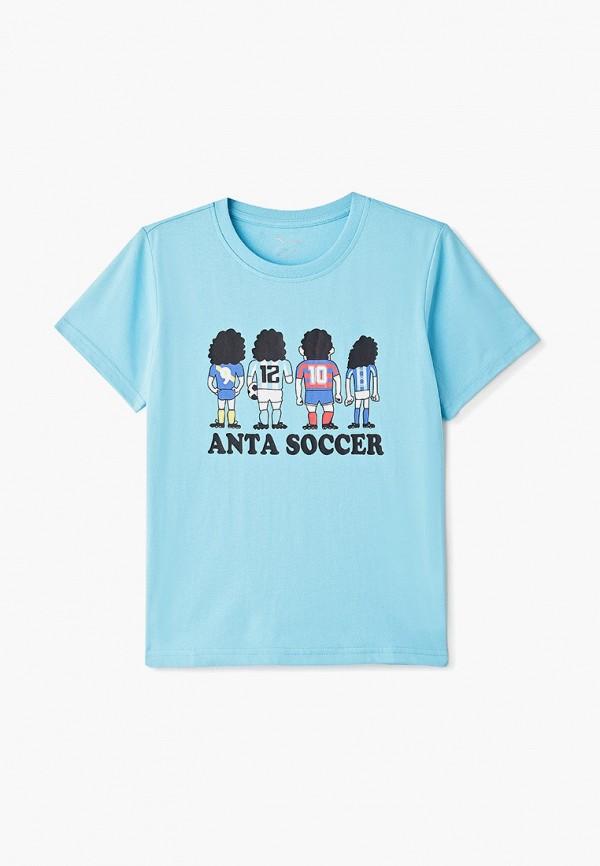 футболка с коротким рукавом anta для мальчика, голубая