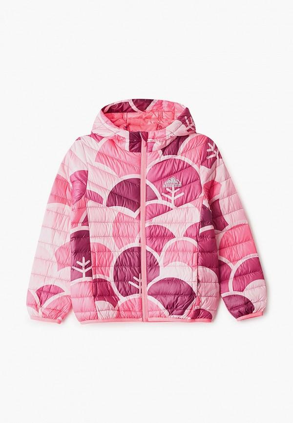 пуховик anta для девочки, розовый