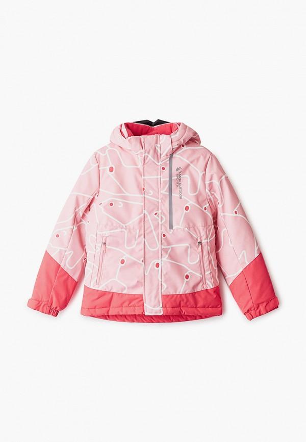 куртка anta для девочки, розовая