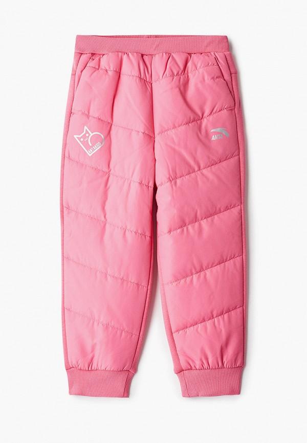 брюки anta для девочки, розовые