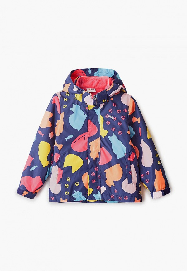 куртка anta для девочки, синяя