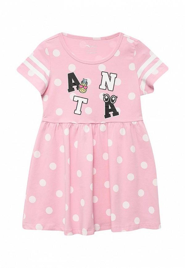 повседневные платье anta для девочки, розовое