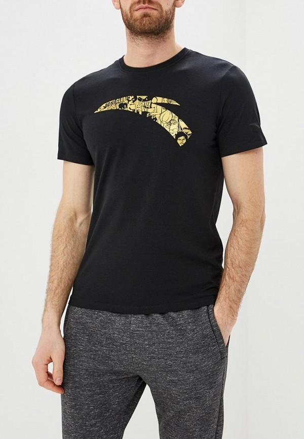мужская футболка с коротким рукавом anta, черная