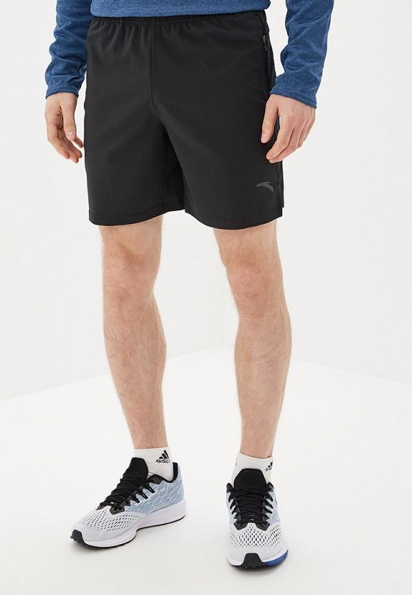 мужские спортивные спортивные шорты anta, черные