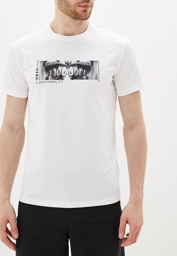 мужская футболка с коротким рукавом anta, белая