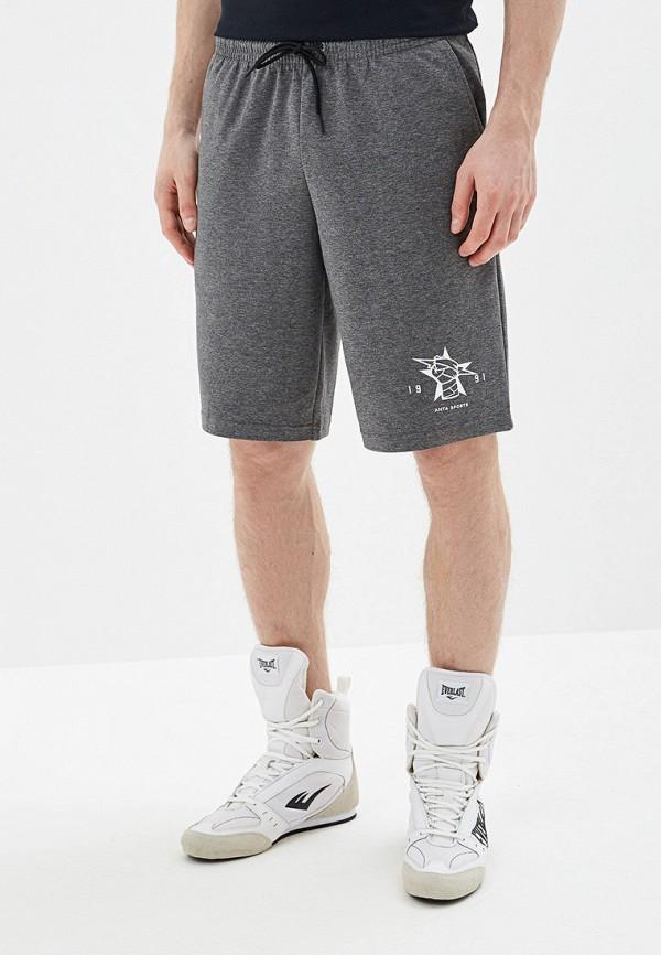 мужские повседневные шорты anta, серые