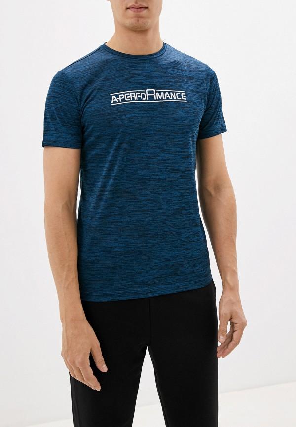 мужская спортивные футболка anta, синяя