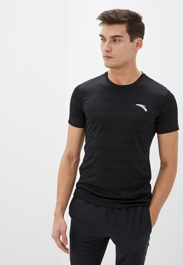 мужская футболка anta, черная