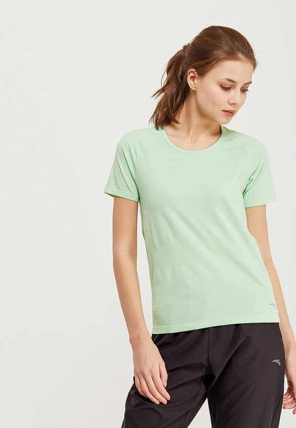 женская спортивные футболка anta, зеленая