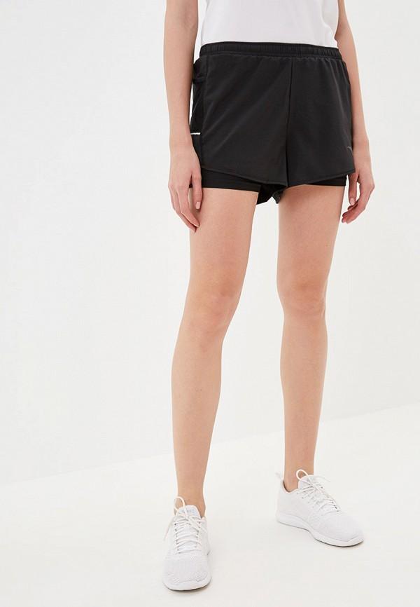 женские спортивные спортивные шорты anta, черные