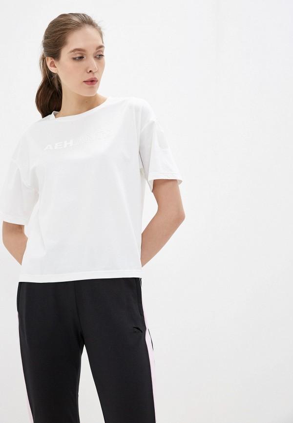 женская футболка anta, белая