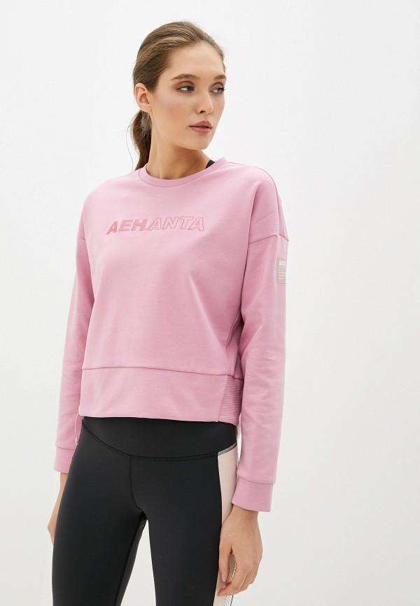 женский свитшот anta, розовый