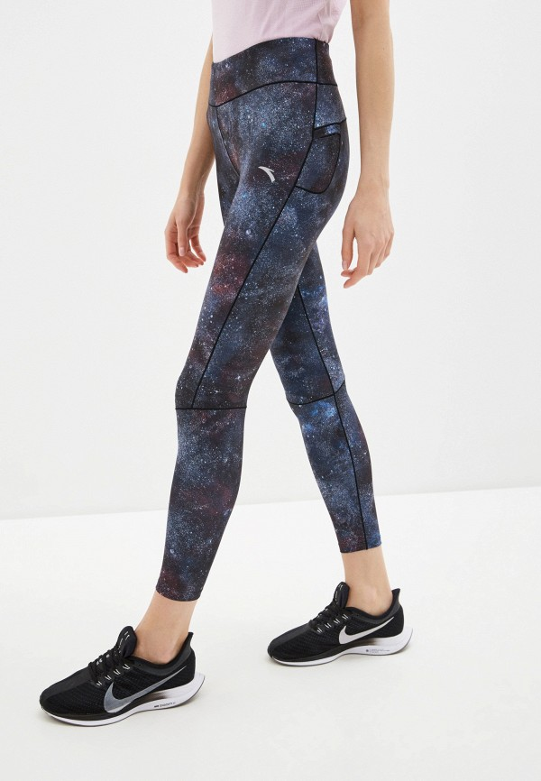 женские спортивные леггинсы anta, синие