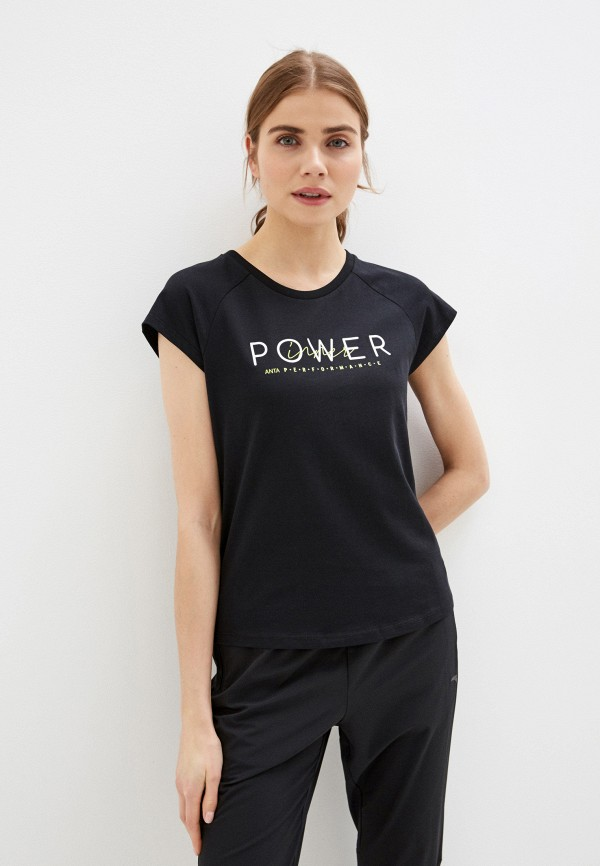женская спортивные футболка anta, черная