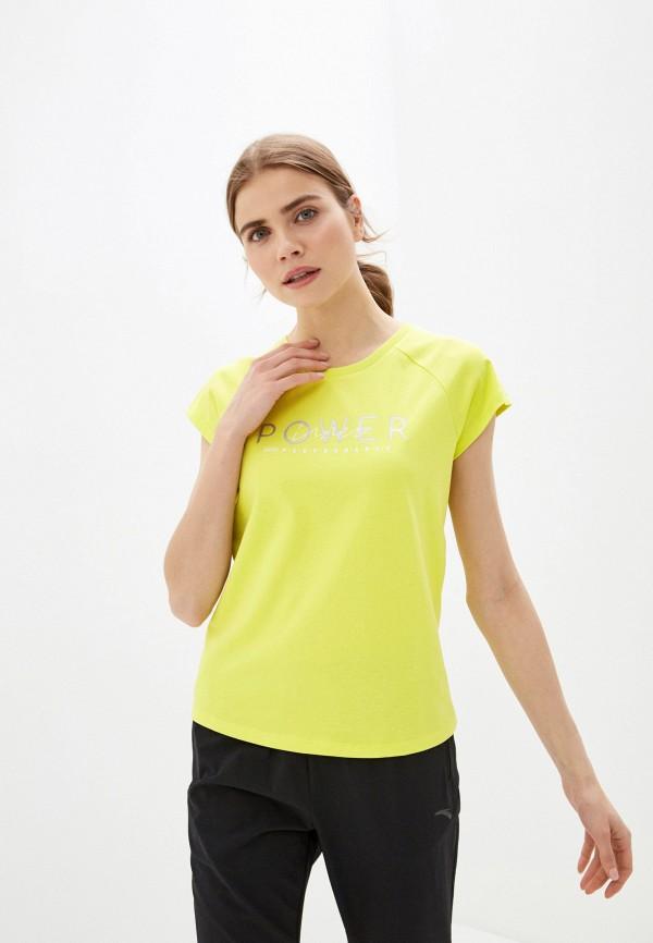 женская футболка anta, зеленая