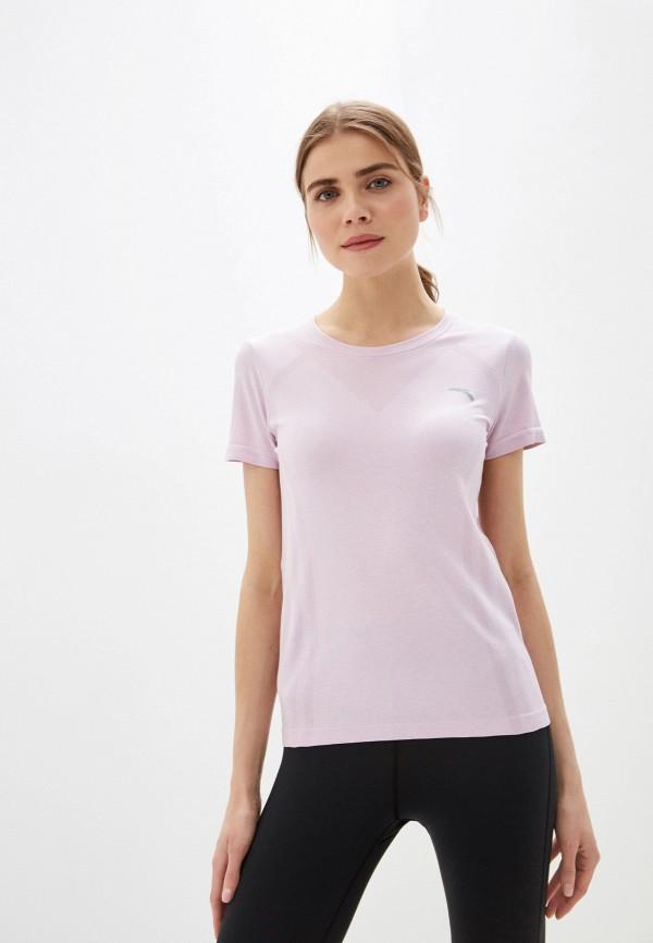 женская спортивные футболка anta, фиолетовая