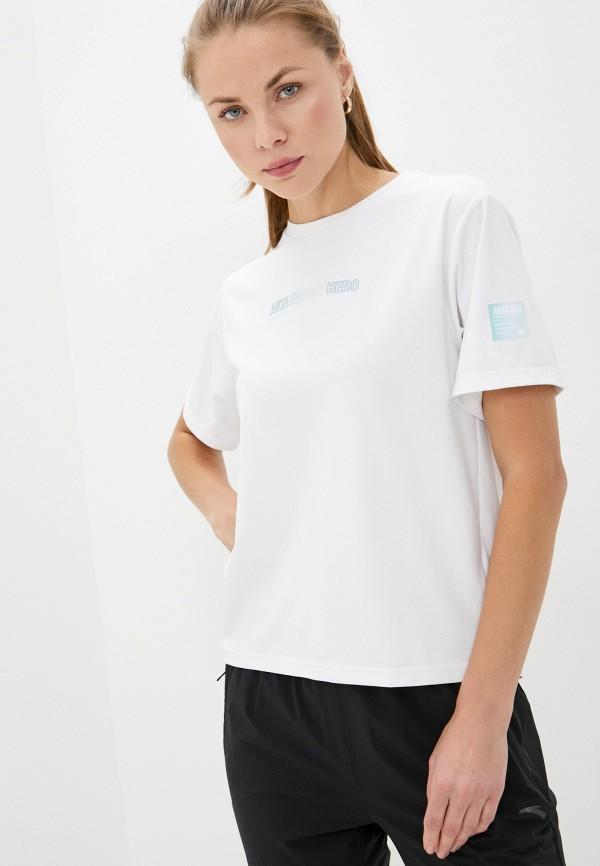женская спортивные футболка anta, белая