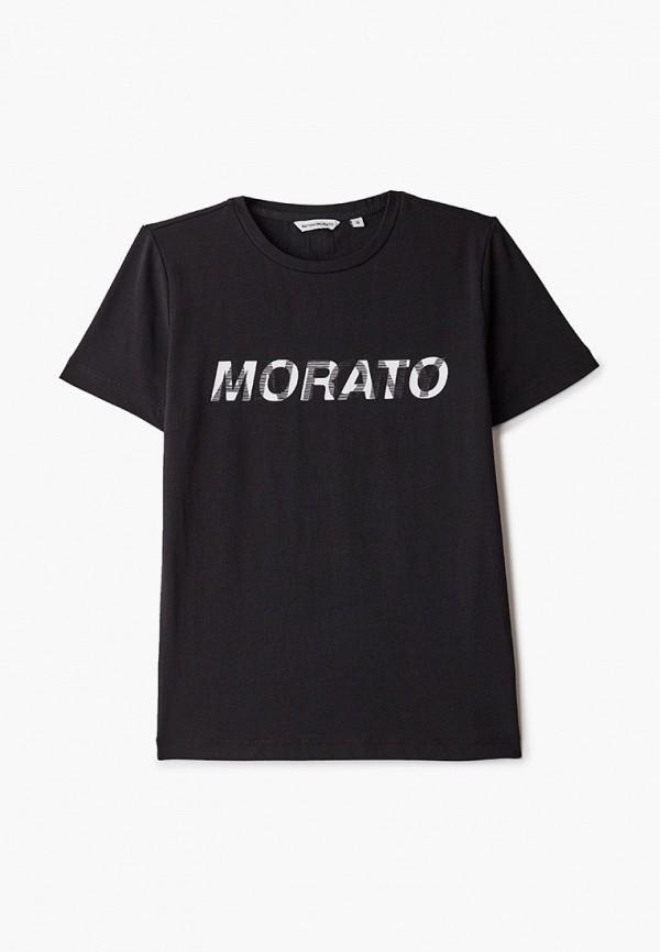 футболка с коротким рукавом antony morato для мальчика, черная