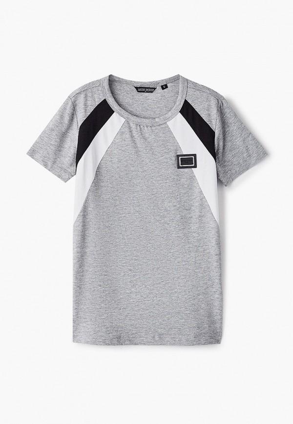 футболка с коротким рукавом antony morato для мальчика, серая