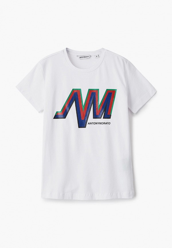 футболка с коротким рукавом antony morato для мальчика, белая