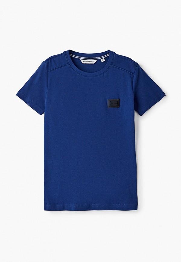 футболка с коротким рукавом antony morato для мальчика, синяя