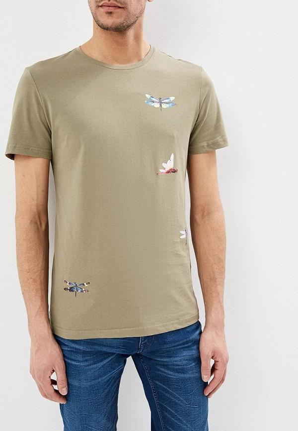 мужская футболка с коротким рукавом antony morato, зеленая
