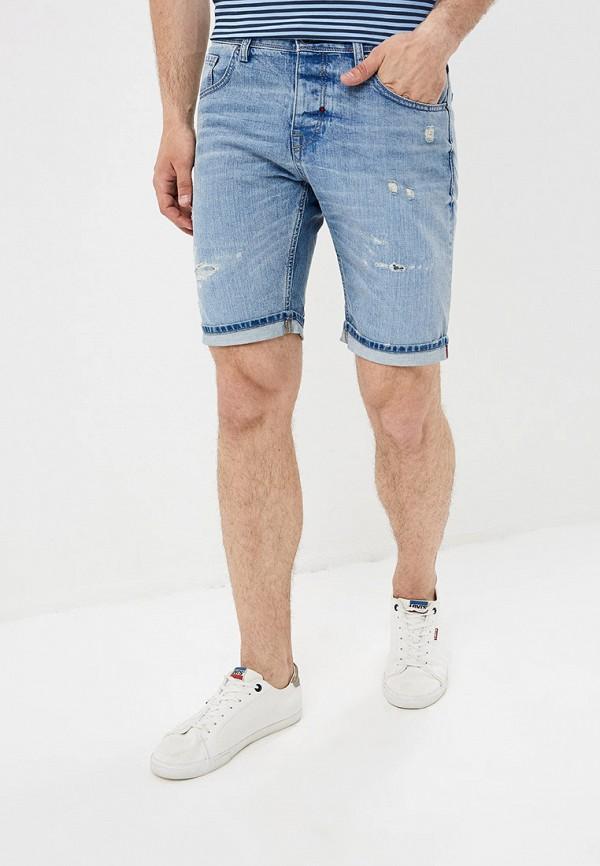 мужские джинсовые шорты antony morato, синие