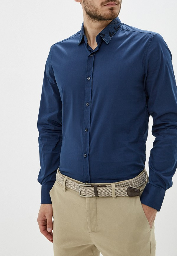 мужская рубашка antony morato, синяя