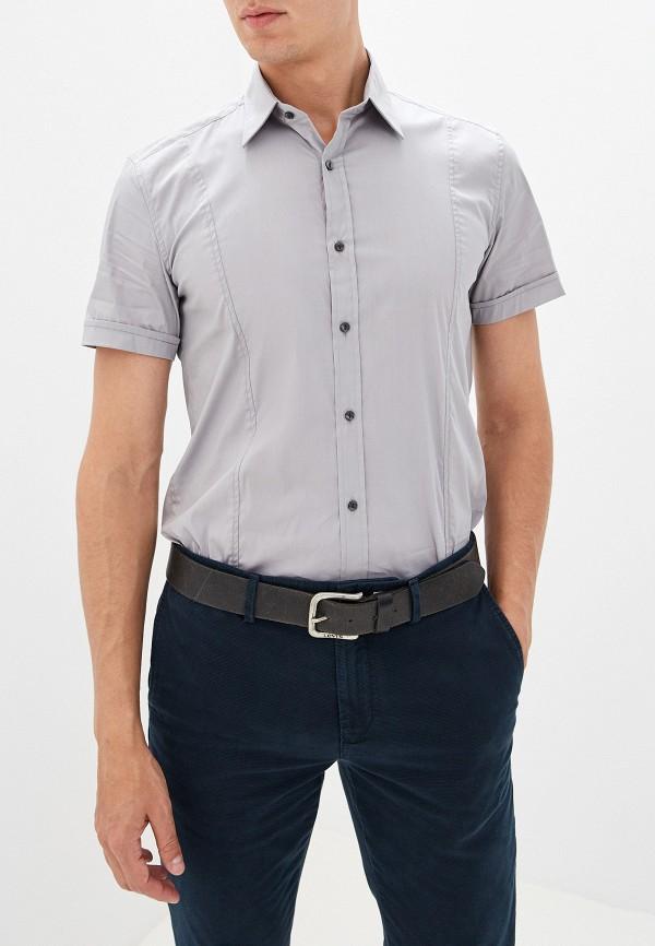 мужская рубашка с коротким рукавом antony morato, серая