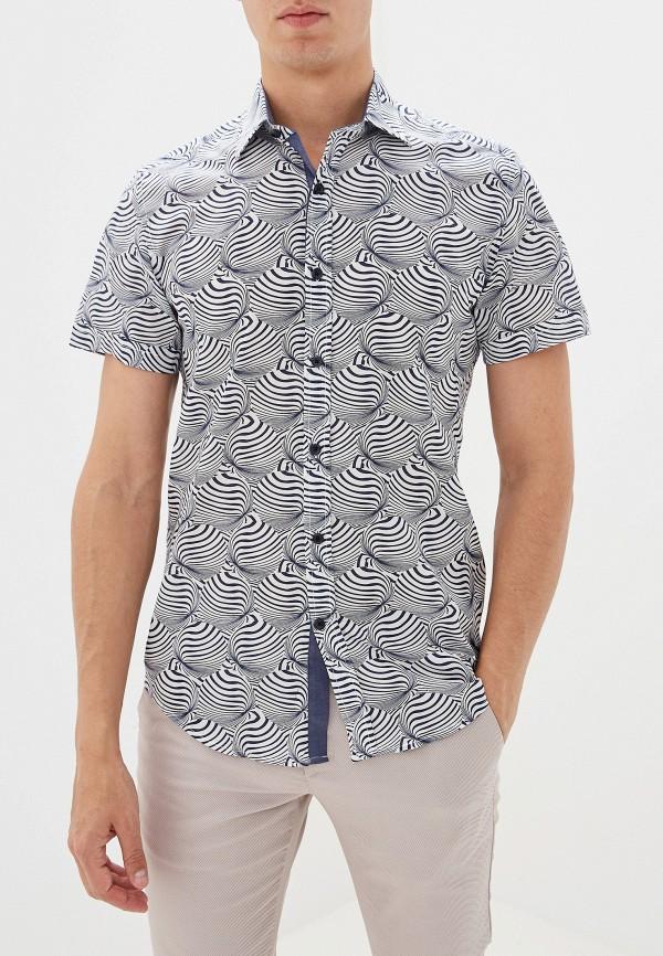 мужская рубашка с коротким рукавом antony morato, синяя