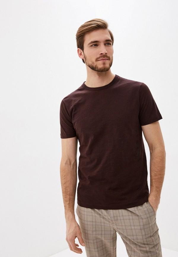 мужская футболка с коротким рукавом antony morato, коричневая