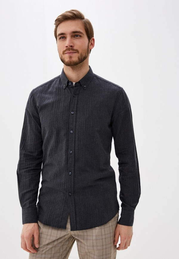 мужская рубашка с длинным рукавом antony morato, серая