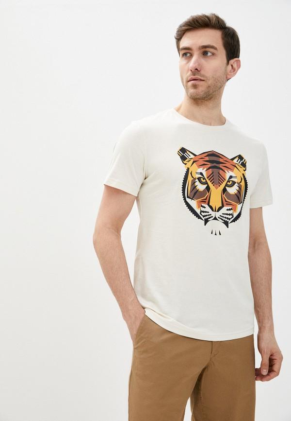 мужская футболка с коротким рукавом antony morato, бежевая